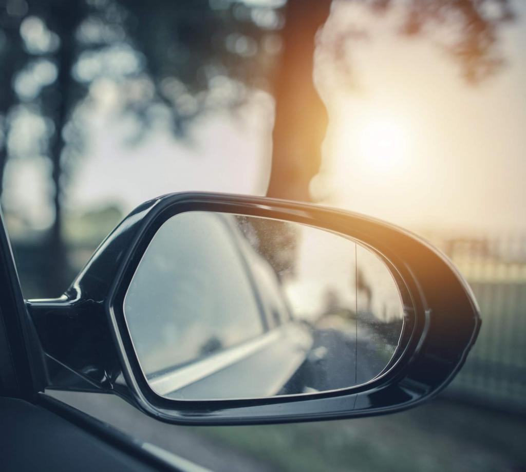 side mirror of car