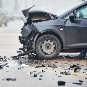 the scene of a new york car accident